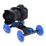 Bestcompu-NEW-Mobile-Rolling-Sliding-Dolly-Car-Skater-for-Speedlite-DSLR-Camera-Rig-Blue