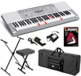 Casio LK-280 Keyboard STAGE BUNDLE w/ Carrying Bag, Stand & Bench