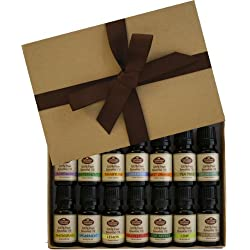 Starter Set 14 Gift Pack 100% Pure Essential Oils - Great for Aromatherapy