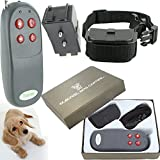 DealStock 4 in 1 Small Medium Remote Dog Training Collar Safe for Pet Shock Vibrate Light Sound Trainer Belt