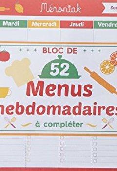 Livres Couvertures de Bloc de menus à compléter Mémoniak 2019