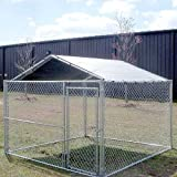 ALEKO® 12x12 Pet Kennel Waterproof Roof Cover Dog Kennel Roof Replacement Sand Color