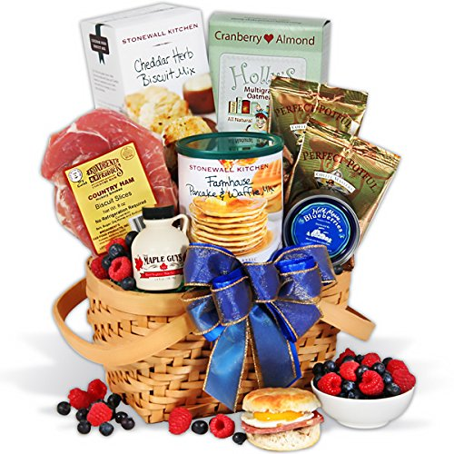Gourmet easter baskets for adults give special gifts this easter easter morning breakfast gift basket negle Image collections