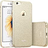 Custodia iPhone 6 Silicone,Case Cover per iPhone 6s in Silicone,ESR iPhone 6 Glitter Bling Case Cover iPhone 6 / 6S 4.7 inch (Champagne Gold)