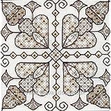 Derwentwater Golden Hearts Blackwork Embroidery Kit