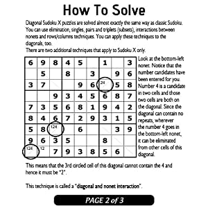 Diagonal Sudoku  (200 Diagonal Sudoku Puzzles for Kindle) by DJAPE