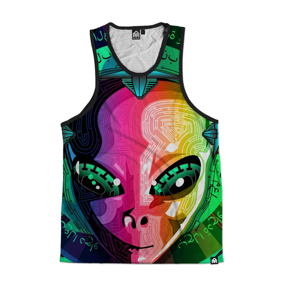 INTO THE AM Alien All Over Print Rave Tank