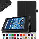 """Fintie Fire 7 2015 Case - Slim Fit Folio Premium Vegan Leather Standing Protective Cover Case for Amazon Fire 7 Tablet (will only fit Fire 7"""" Display 5th Generation - 2015 release), Black"""