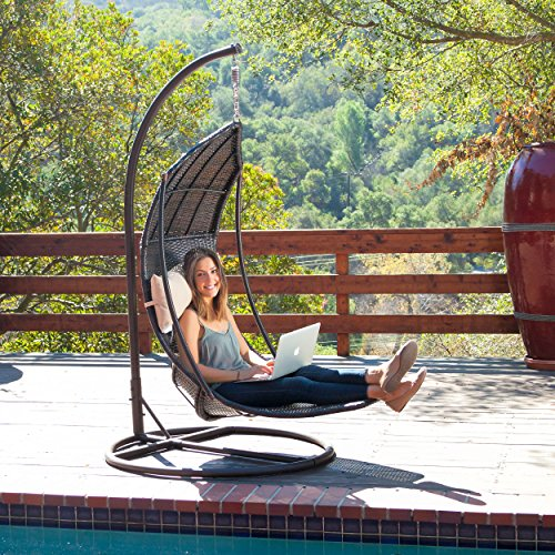 Outdoor Brown Wicker Hanging SwingChair