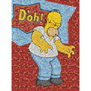 The Simpsons Photomosaics 1000 Piece Puzzle Homer D'oh!