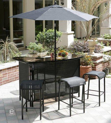 Garden Pleasure Bar Set LOLLAND inkl. Sonnenschirm