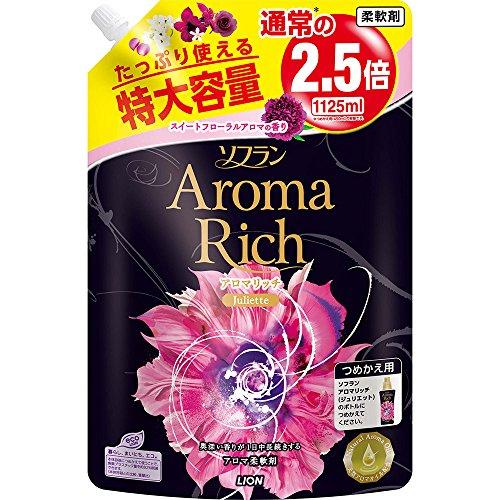 【大容量】ソフラン アロマリッチ 柔軟剤 ジュリエット(スイートフローラルの香り) 詰替特大 1125ml 615rZUgmiYL