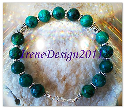 Chrysocolla & Silver Bracelet
