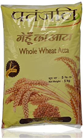Image result for Patanjali Whole Wheat atta