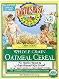 Earth's Best Organic, Whole Grain Oatmeal Cereal, 8 Ounce (Pack of 12)
