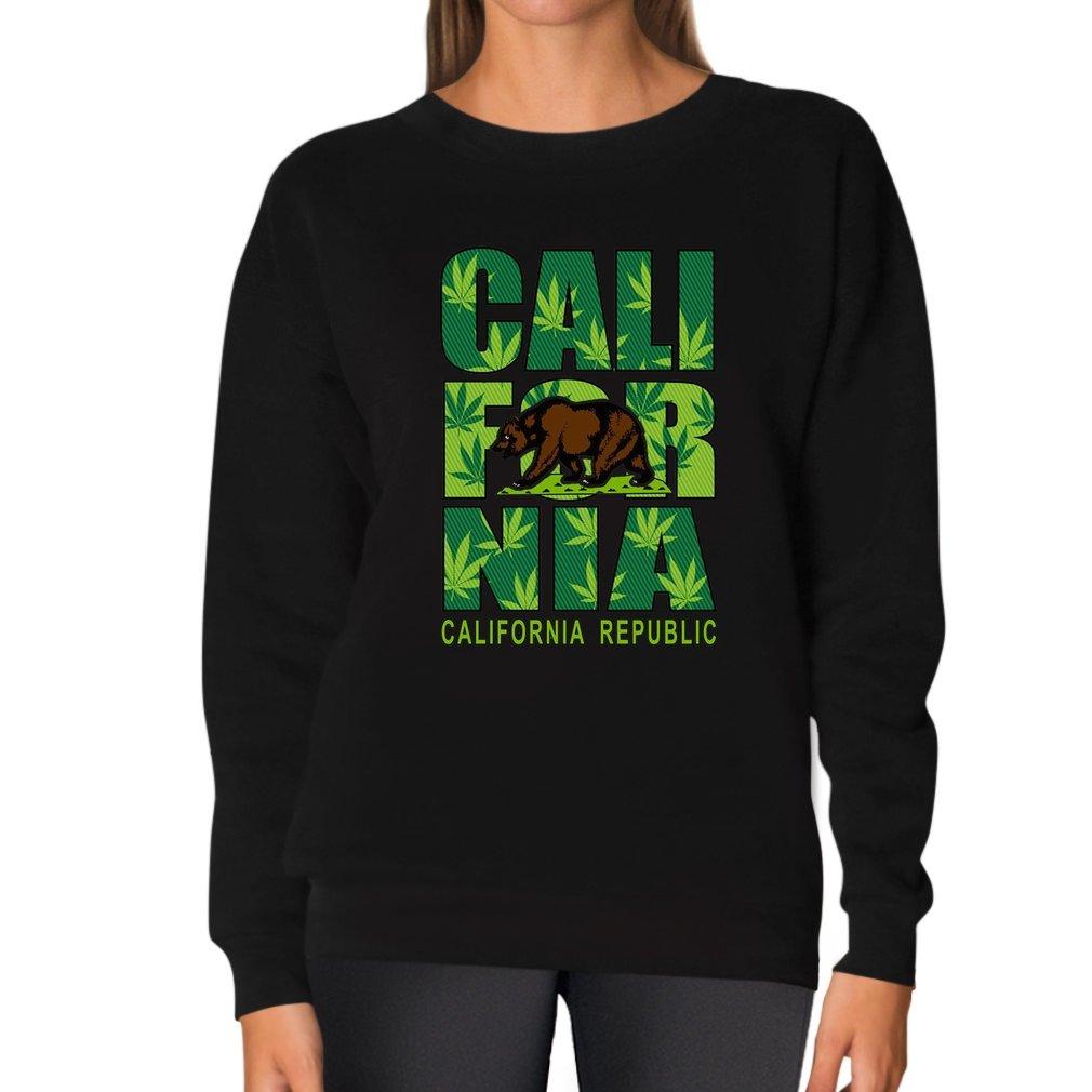 California Republic Bear Apparel Cannabis Marijuana Women Sweatshirt