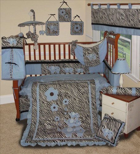 Zebra Print Crib Bedding