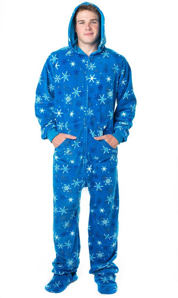 Footed Pajamas Its A Snow Day Adult Hoodie One Piece