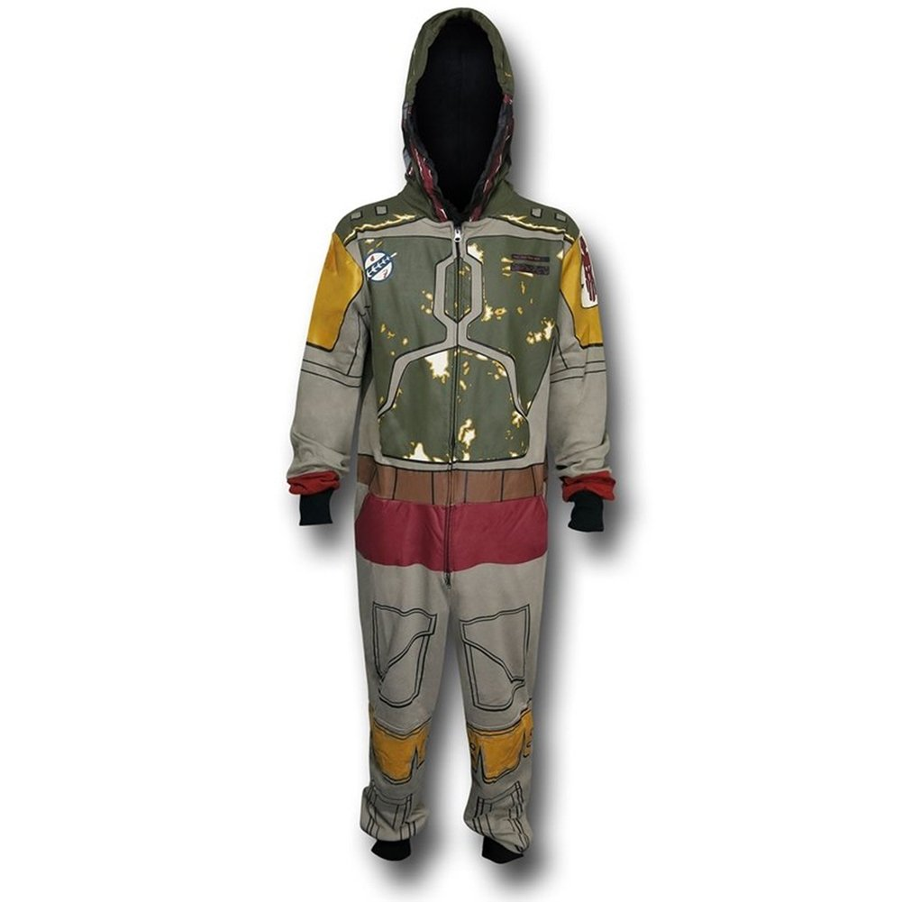Star Wars Men's Boba Fett One Piece Pajama adult onesie