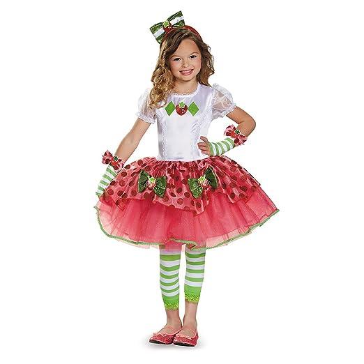 Disguise 84499K Strawberry Shortcake Tutu Prestige Costume, Medium (7-8)