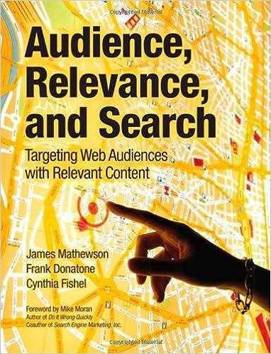 Umschlag des Buches Audience, Relevance and Search von James Mathewson, Frank Donatone und Cynthia Fishel