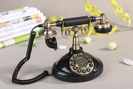 Vintage Antique Style Push Button Dial Table Telephone