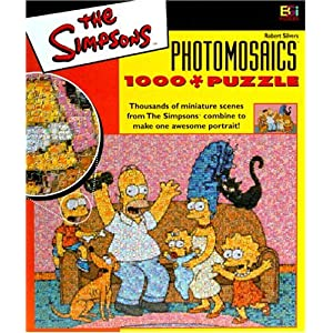Simpsons Photomosaic Family Jigsaw Puzzle 1026pc