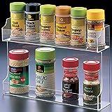 """Spice Rack - Acrylic (Clear) (8.25""""h 12""""w x 2 7/8""""d)"""