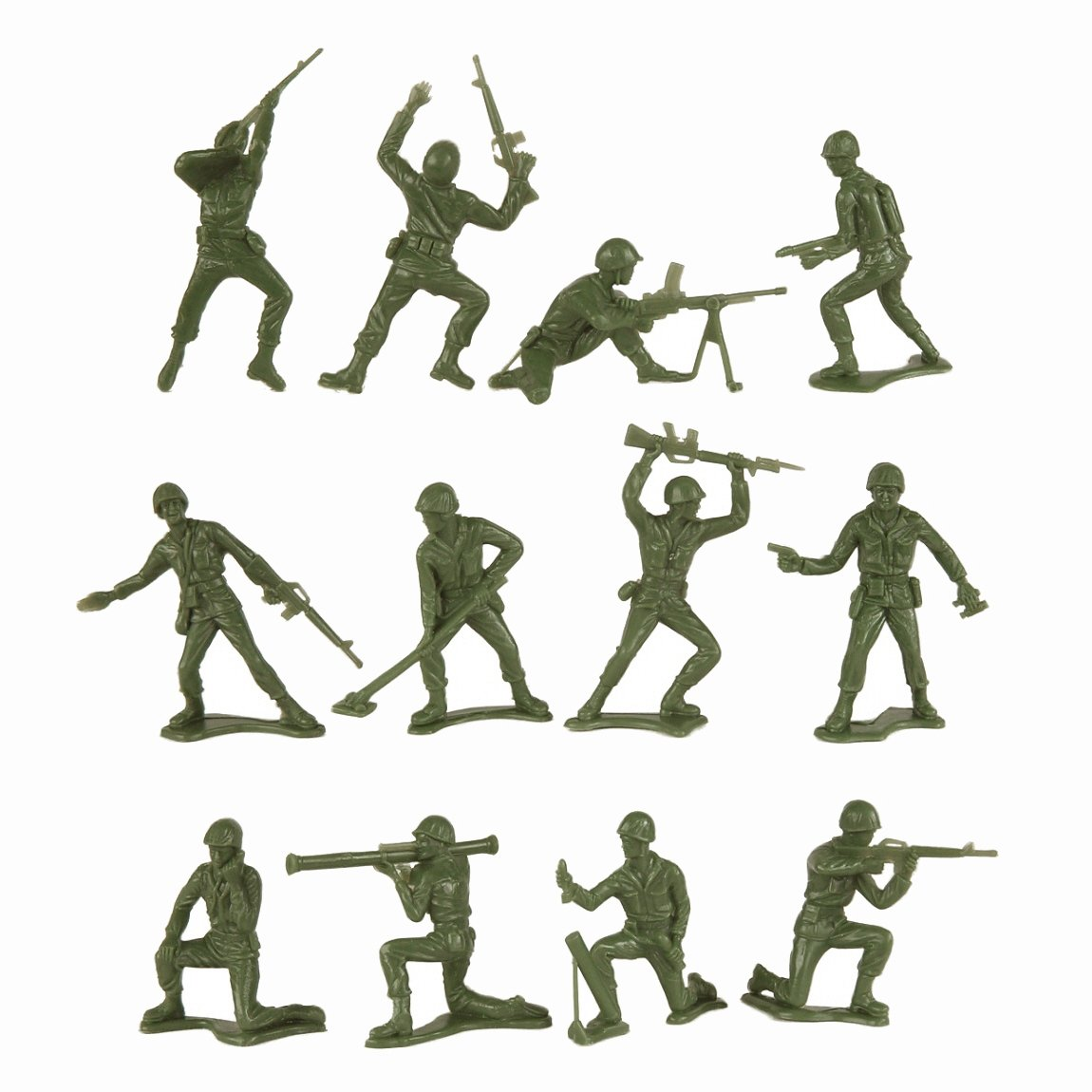 The Poses Of Green Plastic Army Men Toys Are Fairly