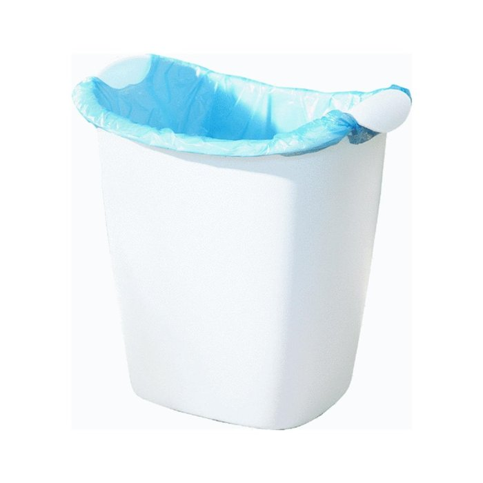 Amazon.com : Rubbermaid Wastebasket This wastebasket fits perfectly under our sink, and is designed to use grocery store plastic bags. Perfect for our RVing!