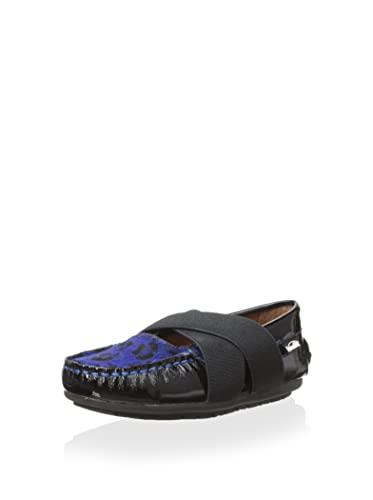 Venettini Daisy Loafer, Black, 27 M EU/10 M US Toddler