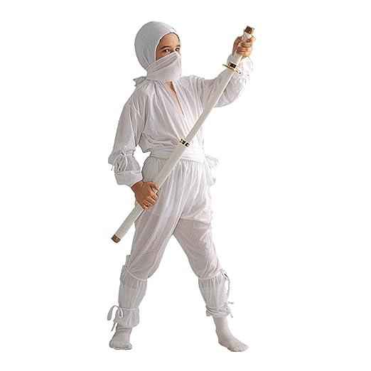 RG Costumes Ninja, White, Child Medium/Size 8-10