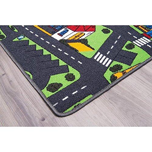 Primaflor Tapis Circuit Voiture Tapis Sol Enfant de Haute Qualit/é Ideen in Textil Tapis de Jeux CHANTIER 0,95m x 2,00m Tapis de Jeu Enfant