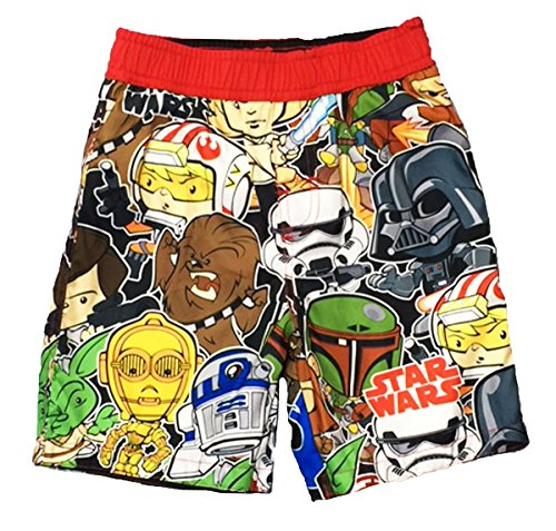 Disney Star Wars Little Boys Toddler Character Swim Trunks (5T)
