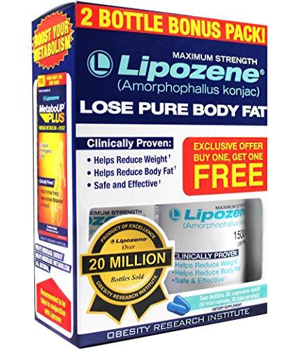 Lipozene Diet Pills - Maximum Strength Fat Loss Formula - 1500mg , 60 Capsules