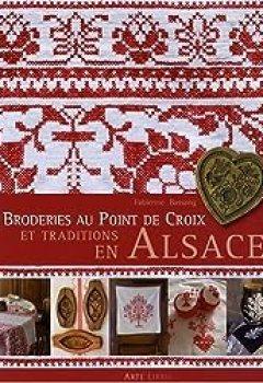 Livres Couvertures de Broderie Au Point De Croix Et Traditions En Alsace