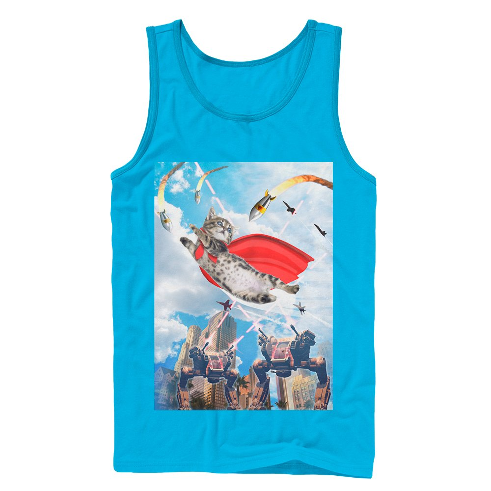 Super Kitten Mens Graphic Tank Top
