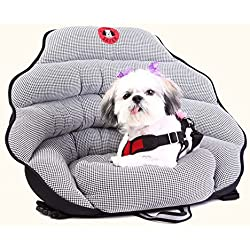 PupSaver Original Dog Car Seat Black White Houndstooth