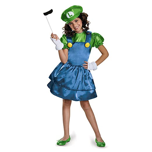 Disguise Luigi Skirt Version Costume, Medium (7-8)