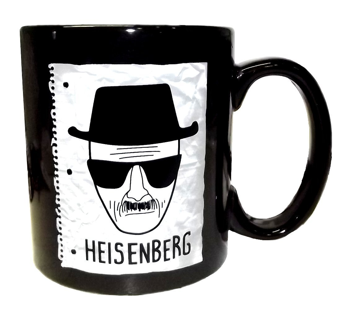 Breaking Bad Heisenberg Sketch Black Oversized Coffee MugBreaking Bad Heisenberg Sketch Black Oversized Coffee Mug