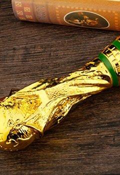 Livres Couvertures de Nasidier 2018Réplique Coupe du Monde Soccer Fans Souvenir avec Boîte de Couleur, 27cm, doré, 27 cm