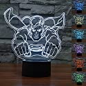 SUPERNIUDB 3D Superman 3D Night Light 7 Color Change LED Table Lamp Xmas Toy Gift