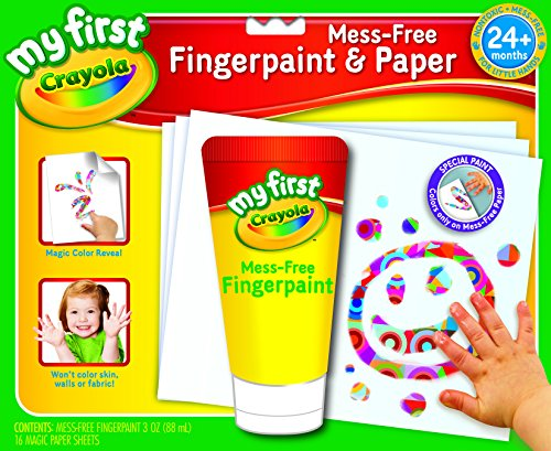 Crayola My First Crayola Mess Free Fingerpaint And Paper