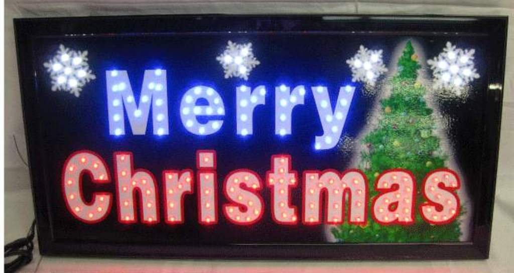 Merry Christmas Lighted Signs