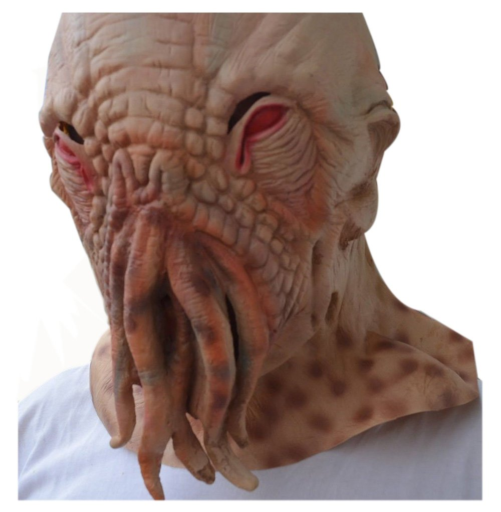 Latex Creepy Ood Octopus Doctor Who Wode Star Horror Head Masks