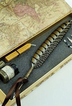 Livres Couvertures de Stylo-plume Antique à tige en cuivre et embout métallique- PA-14