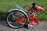 "Columba 20"" Alloy Folding Bike w. Shimano 7 Speed Red (R20A_RED)"