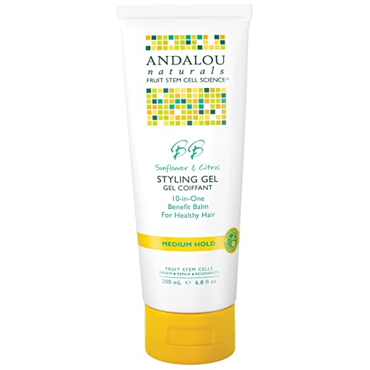 Andalou Naturals Sunflower & Citrus Medium Hold Styling Gel - 6.8 oz