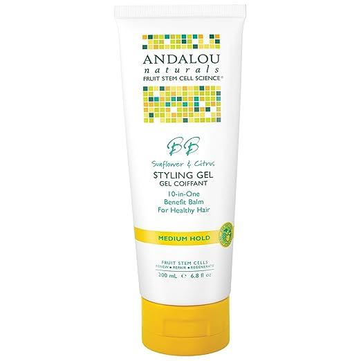 Andalou Naturals Sunflower & Citrus Medium Hold Styling Gel - 6.8 oz