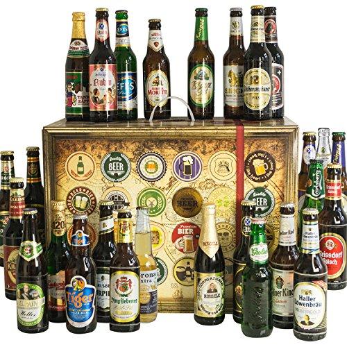Bier Adventskalender Welt und Deutschland mit Tiger Beer + Stella Artois + Singha + Efes + San Miguel + Lapin Kulta + Moretti + mehr ... Ein tolles Geschenk für Männer. Bierset + Geschenk, Biersorten aus aller WELT & DEUTSCHLAND. Bieradventskalender 2016 - mit 24 Biersorten in FLASCHEN Adventskalender Bier Welt 2016 - Adventskalender für Männer, Adventskalender für Erwachsene, Bierkalender Adventskalender Alkohol, Weihnachtskalender mit Bier, Bier Adventskalender Weihnachtsgeschenke Bier Männer